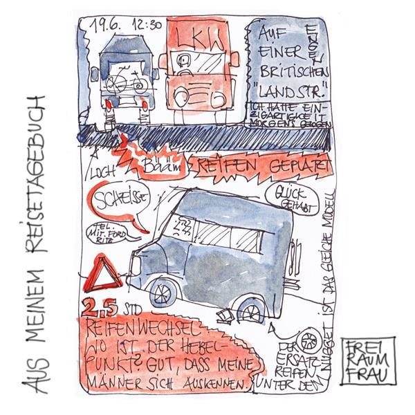 Zeichnung-Reisetagebuch