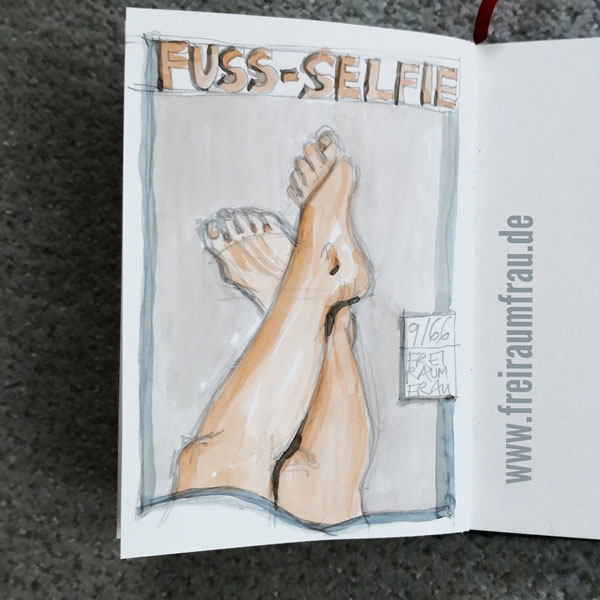 Fuss-Selfie