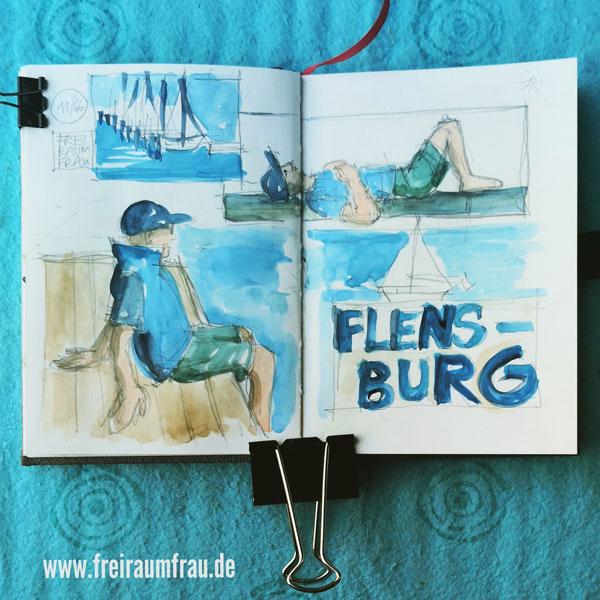 Flensburg, aufs Wasser gucken