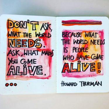 Spruch Howard Thurman