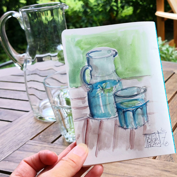 Aquarell Wasserkaraffe