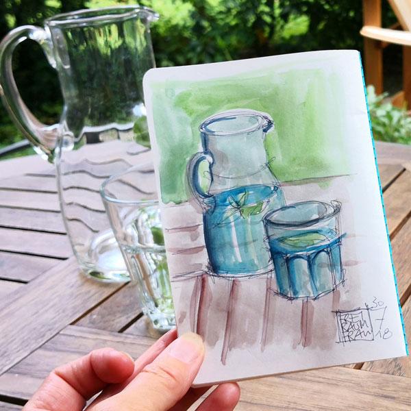 Aquarell Wasserkaraffe