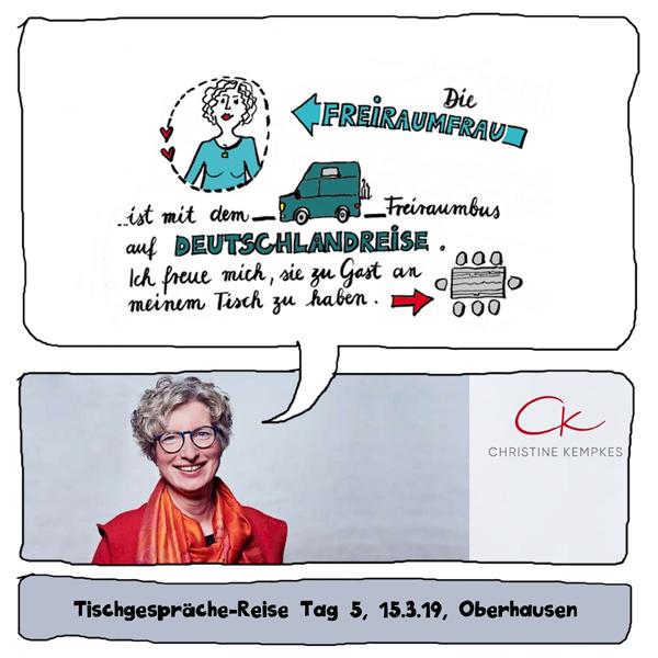 Freiraumfrau zu Gast bei Christine Kempkes